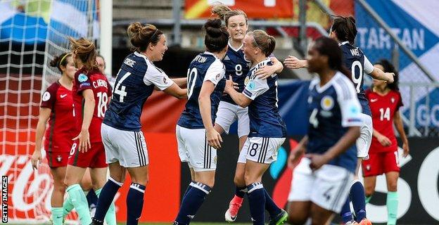 Erin Cuthbert gave Scotland hope with a well-worked goal in 68 minutes