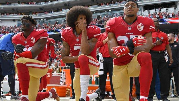 NFL: Colin Kaepernick Criticises League 'Propaganda' and Eric Reid 'Blackballing'