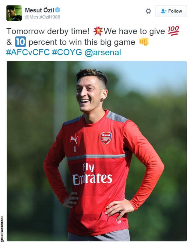 Mesut Ozil tweet