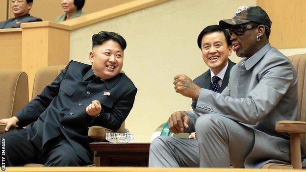 Kim Jon-un and Dennis Rodman