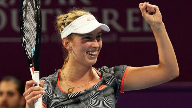 Qatar Open: Elise Mertens beats Simona Halep to win her biggest tour title thumbnail