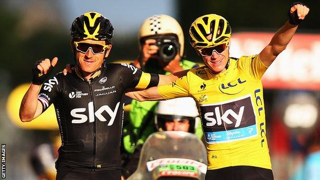 Geraint Thomas finished 15th in the 2015 Tour de France while helping Team Sky leader Chris Froome take the title
