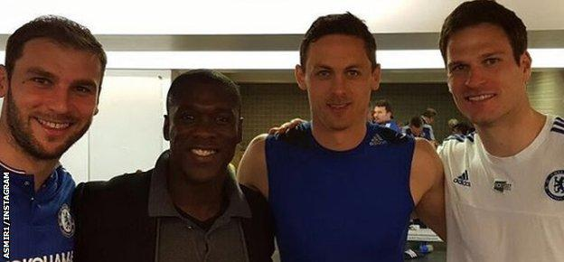 Asmir Begovic and Clarence Seedorf