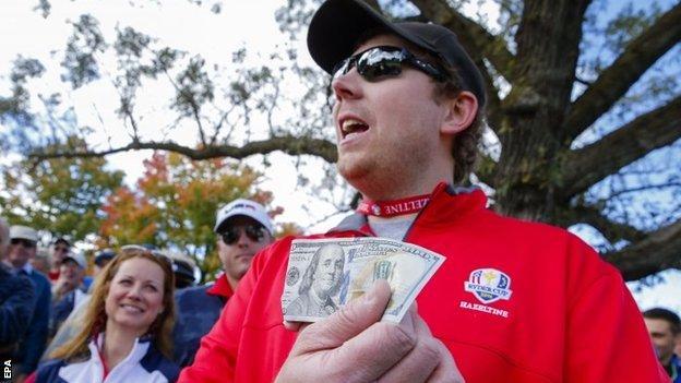 American fan with $100