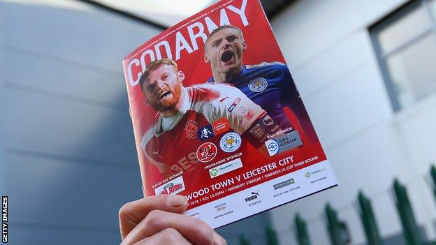 Fleetwood Town programme for FA Cup tie against Leicester City