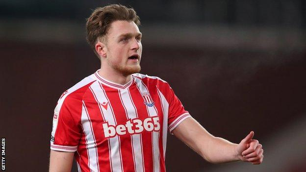Harry Souttar in action for Stoke City