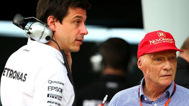 Toto Wolff and Niki Lauda