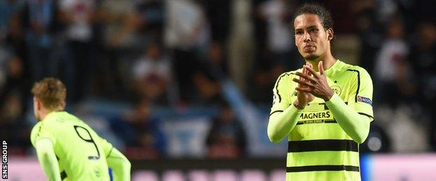 Virgil van Dijk is being heavily linked with a move away from Celtic