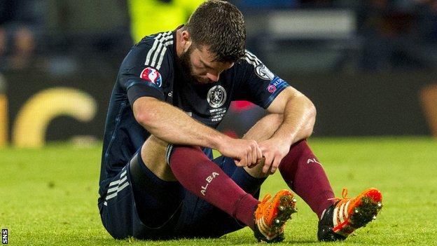 Scotland's hopes of qualification for Euro 2016 were ended by a home draw against Poland