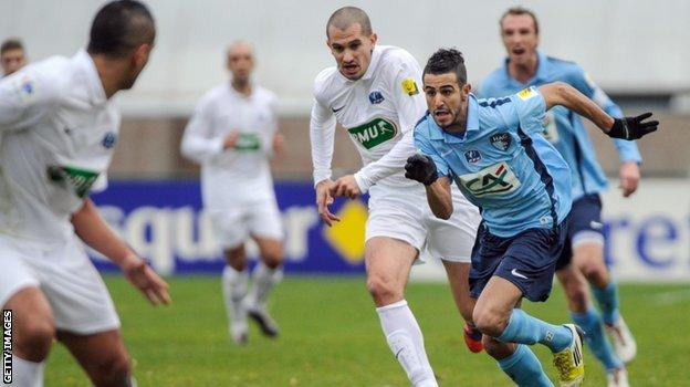 Riyad Mahrez in action for Le Havre