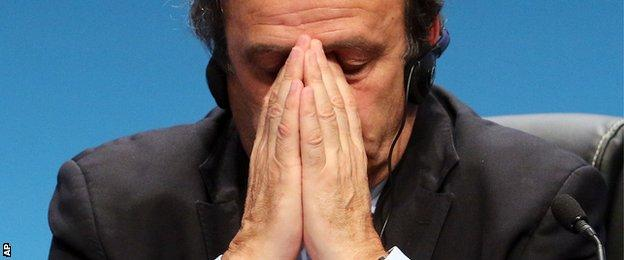 Michel Platini at a recent hearing