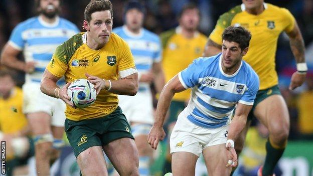 Australia beat Argentina at Twickenham in the 2015 World Cup semi-final