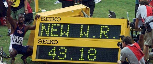 Michael Johnson world record