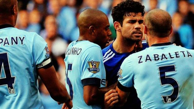 Man city v chelsea 39 el cashico 39 the new premier league rivalry bbc sport - Bbc football league 1 table ...