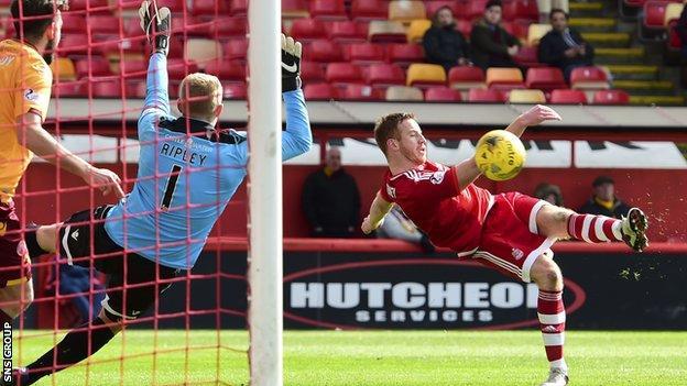 Adam Rooney scored on his return from injury