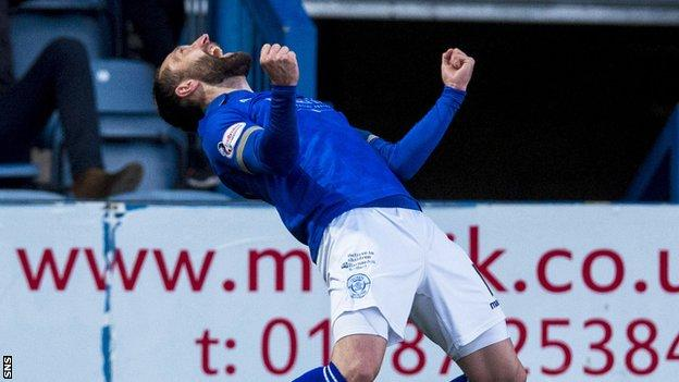 Stephen Dobbie made it 2-0 to Queen of the South