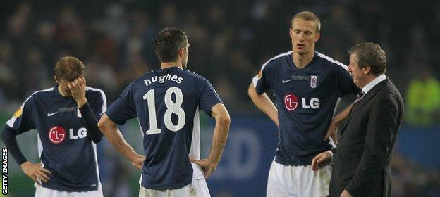 Hangeland and Hodgson after losing the Europa League final