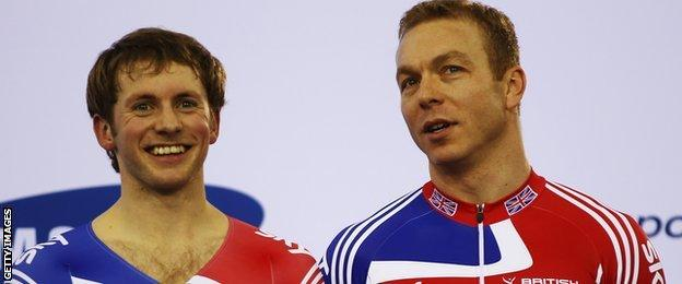 Jason Kenny and Chris Hoy in 2012