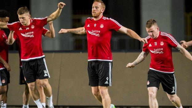 Aberdeen players trained in Kasakhstan after travelling across five time zones