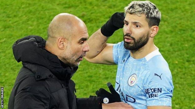 Sergio Aguero: Man City striker's comeback delayed after positive Covid-19 test (2021)