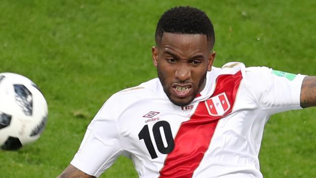 edc53019b World Cup 2018  Peru s Jefferson Farfan ruled out after  traumatic brain  injury  - BBC Sport