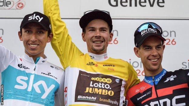Tour of Romandie winner Primoze Roglic