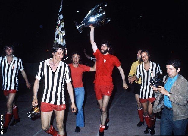 Ajax celebrate winning 1973 European Cup