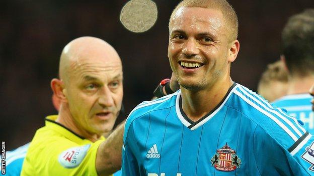 Wes Brown during his time at Sunderland