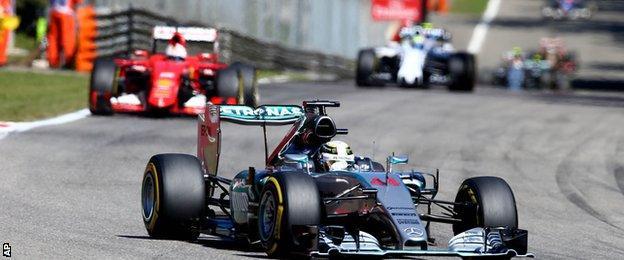Lewis Hamilton in action during the Italian Grand Prix
