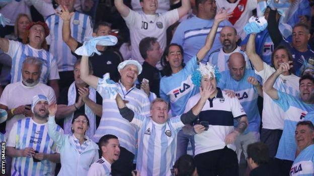 Argentina fans at the Davis Cup