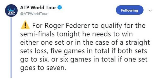 The ATP spells out what Roger Federer needs to do against Kevin Anderson