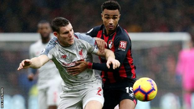 James Milner in action against Bournemouth