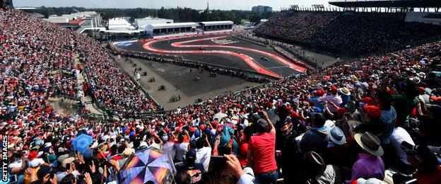 Fans in the stadium section of the circuit were treated to their national hero Sergio Perez overtaking Carlos Sainz Jr