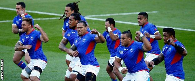 Samoa have won one and lost two of the Pool B matches so far