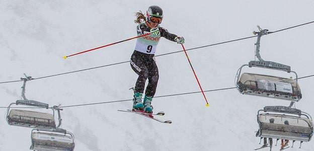Telemark skier Jasmin Taylor of Great Britain