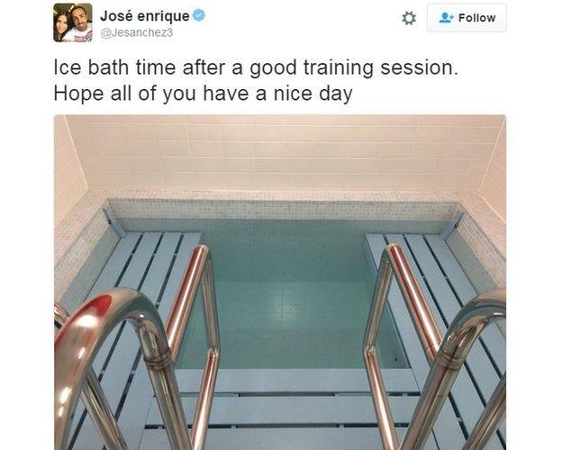 Jose Enrique ice bath