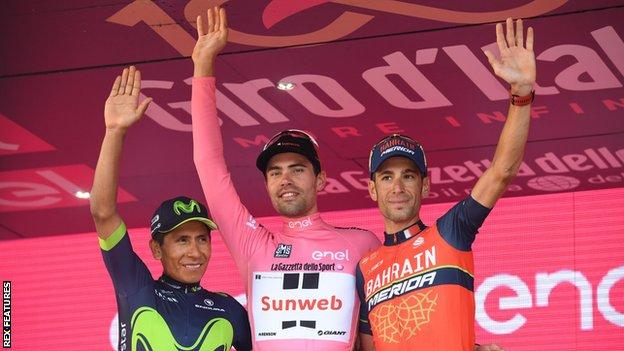Dutch rider Tom Dumoulin of the Sunweb Team won the 2017 Giro d'Italia