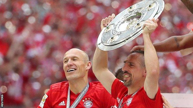 Arjen Robben and Franck Ribery