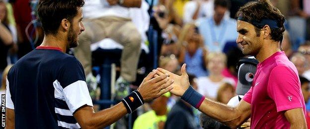 Feliciano Lopez and Roger Federer