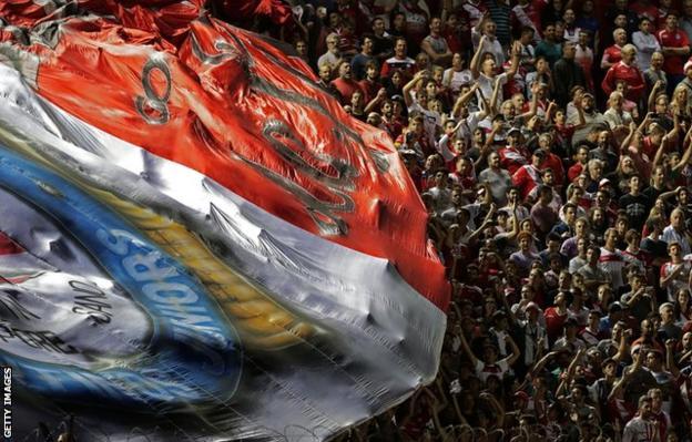 Argentinos Juniors fans