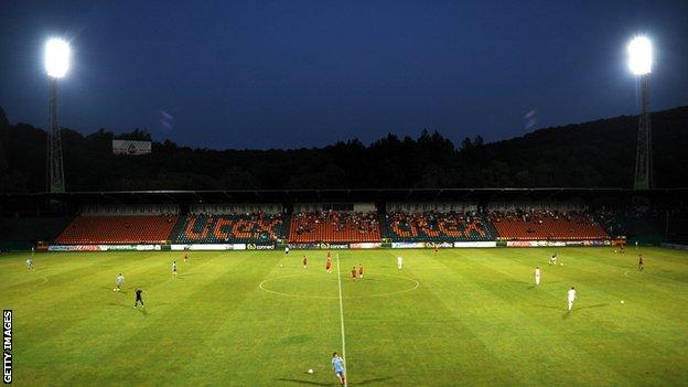 A general view of the Lovech Stadium, home of Litex Lovech