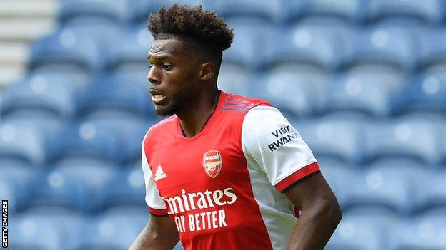 Il nuovo giocatore Nuno Tavares ha segnato il gol dell'Arsenal a Ibrox