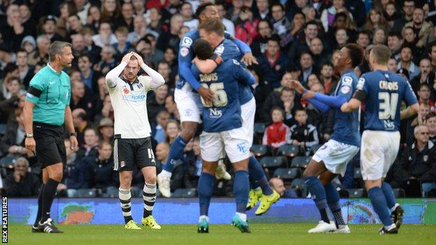 Reaction to Birmingham's opening goal