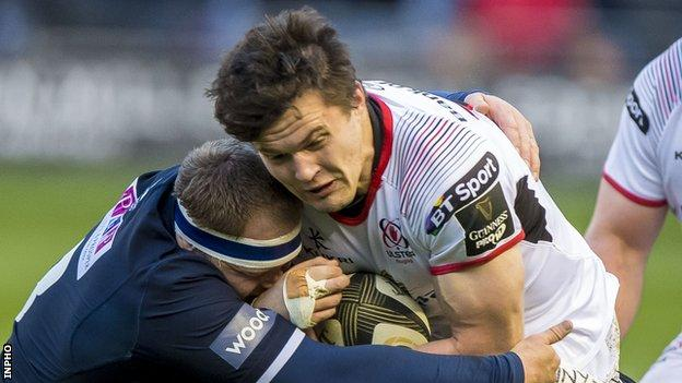 Jacob Stockdale sustained a hamstring injury in Ulster's 29-7 win over Edinburgh at Murrayfield on 12 April