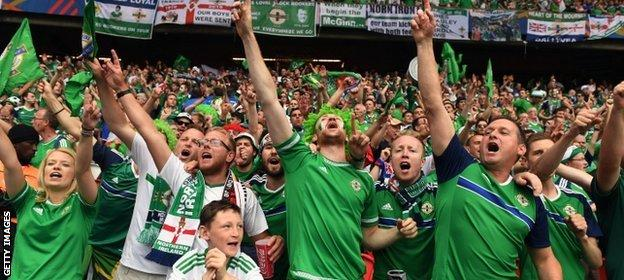 Northern Ireland fans are enjoying watching their team at a first major tournament since 1986