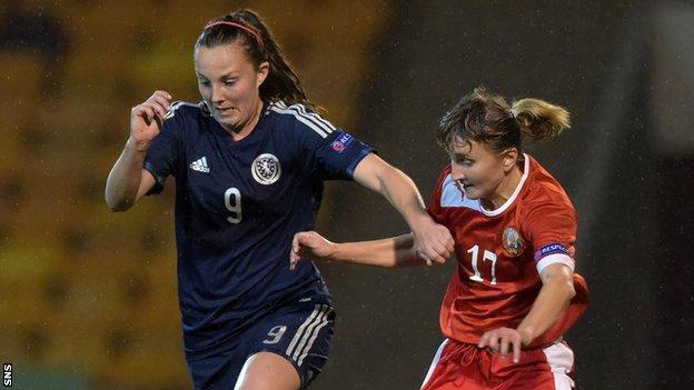Scotland's Caroline Weir (left)