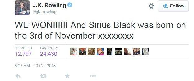 JK Rowling tweets after Scotland's win over Samoa