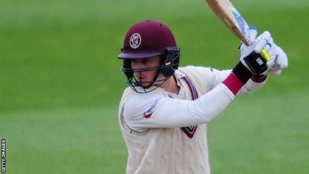 Somerset batsman Tom Abell