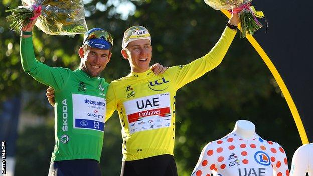 Mark Cavendish & Tadej Pogacar