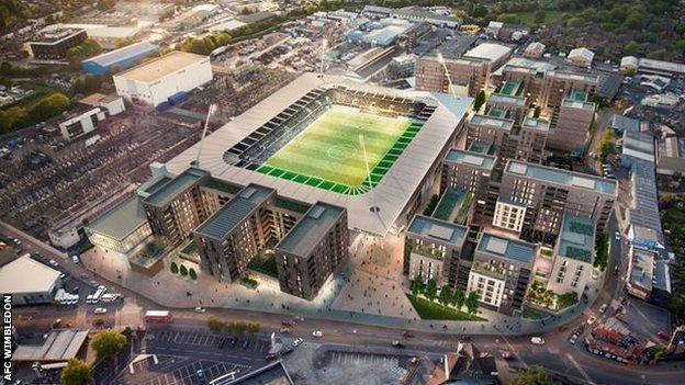 AFC Wimbledon proposed ground at Plough Lane